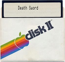 Artwork on the Disc for Death Sword on the Apple II.