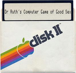 Artwork on the Disc for Dr. Ruth's Computer Game of Good Sex on the Apple II.