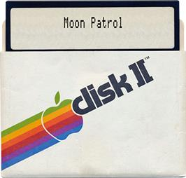 Artwork on the Disc for Moon Patrol on the Apple II.