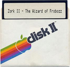 Artwork on the Disc for Zork II: The Wizard of Frobozz on the Apple II.