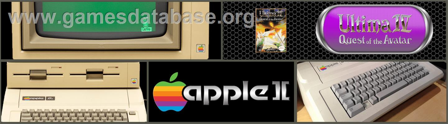 Ultima IV: Quest of the Avatar - Apple II - Artwork - Marquee