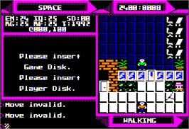 In game image of 2400 A.D. on the Apple II.