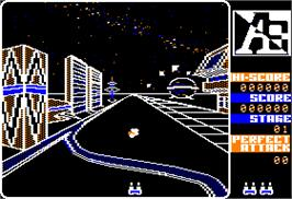 In game image of A.E. on the Apple II.