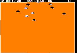 In game image of Agent USA on the Apple II.