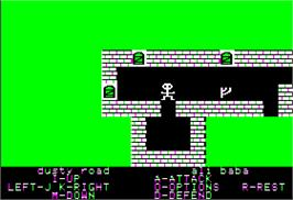 In game image of Ali Baba and the Forty Thieves on the Apple II.