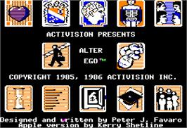 In game image of Alter Ego on the Apple II.