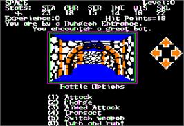 In game image of Alternate Reality: The Dungeon on the Apple II.