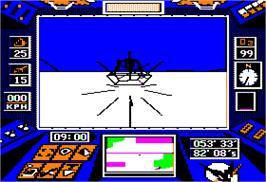 In game image of Arcticfox on the Apple II.