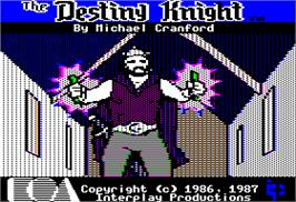 In game image of Bard's Tale II: The Destiny Knight on the Apple II.