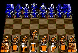 In game image of Battle Chess on the Apple II.