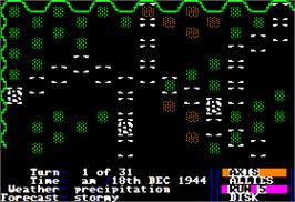 In game image of Battle Zone on the Apple II.