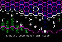In game image of Battle for Normandy on the Apple II.