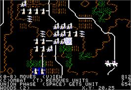 In game image of Battle of Antietam on the Apple II.