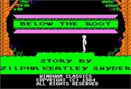 In game image of Below the Root on the Apple II.