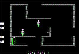 In game image of Beyond Castle Wolfenstein on the Apple II.