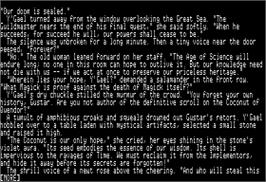 In game image of Beyond Zork: The Coconut of Quendor on the Apple II.