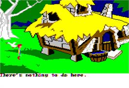 In game image of Black Cauldron on the Apple II.