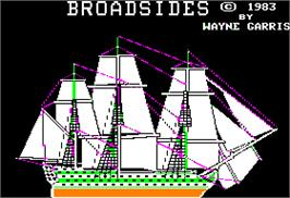 In game image of Broadsides on the Apple II.