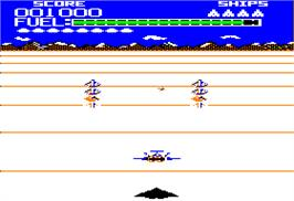 In game image of Buck Rogers: Planet of Zoom on the Apple II.