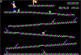 In game image of CannonBall Blitz on the Apple II.