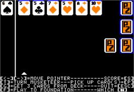 In game image of Card Sharks on the Apple II.