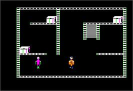 In game image of Castle Wolfenstein on the Apple II.