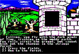 In game image of Cave of Time on the Apple II.