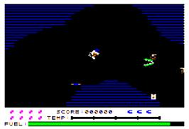 In game image of Caverns of Callisto on the Apple II.
