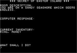 In game image of Chase on Tom Sawyer's Island on the Apple II.