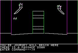 In game image of City Centurian on the Apple II.