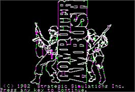In game image of Computer Ambush on the Apple II.