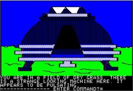 In game image of Crime Wave on the Apple II.