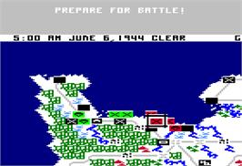 In game image of Crusade in Europe on the Apple II.