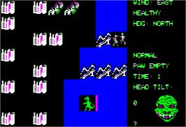 In game image of Crush, Crumble and Chomp on the Apple II.