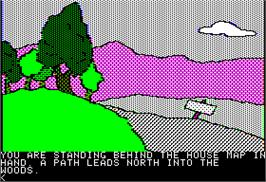 In game image of Death in the Caribbean on the Apple II.