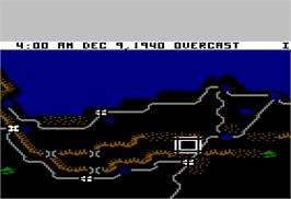 In game image of Decision in the Desert on the Apple II.