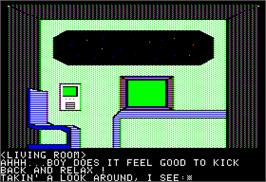 In game image of Destination: Mars on the Apple II.
