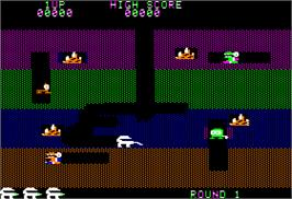 In game image of Dodgem on the Apple II.