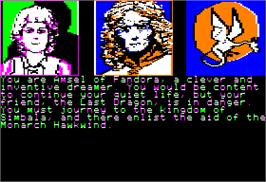 In game image of Dragon World on the Apple II.