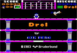 In game image of Drol on the Apple II.
