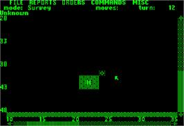 In game image of Empire: Wargame of the Century on the Apple II.