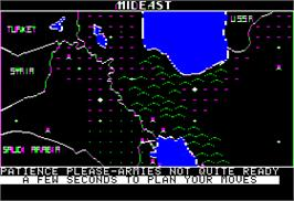 In game image of Empire III: Armageddon on the Apple II.