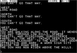 In game image of Enchanter on the Apple II.