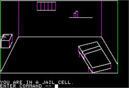 In game image of Escape from Rungistan on the Apple II.