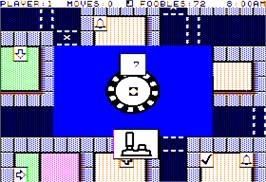 In game image of Fooblitzky on the Apple II.