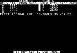In game image of Galaxy on the Apple II.