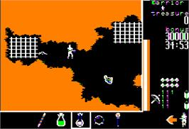 In game image of Gemstone Warrior on the Apple II.