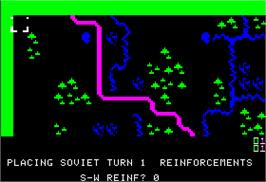 In game image of Guderian on the Apple II.