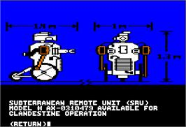 In game image of Hacker on the Apple II.