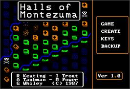 In game image of Halls of Montezuma: A Battle History of the United States Marine Corps on the Apple II.